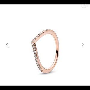 Pandora rose gold shimmering wish ring